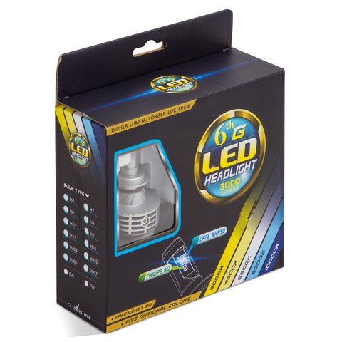 Car LED Headlamp Kit UP-6HL (H7, 3000 lm) Preview 2