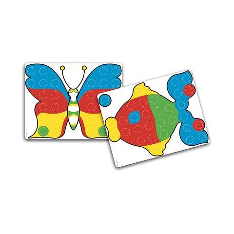 Набор для занятий мозаикой Quercetti (большие фишки (48 шт.) + доска 27×21) Превью 2