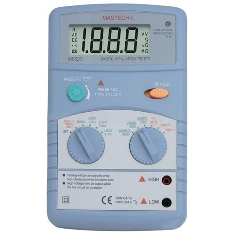 Digital Insulation Tester MASTECH MS5201 Preview 1